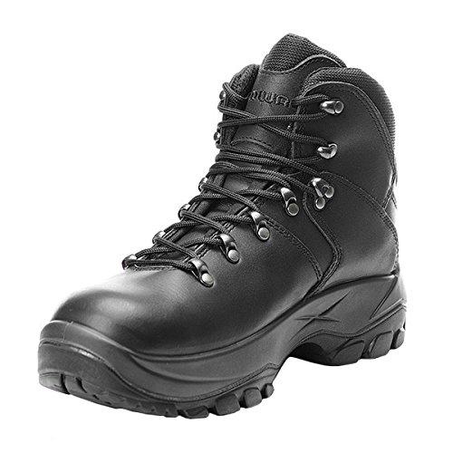 Lowa Leandro Mid S3 Work Boot, Unisex-Erwachsene Stiefel, Schwarz (Black), 46 EU