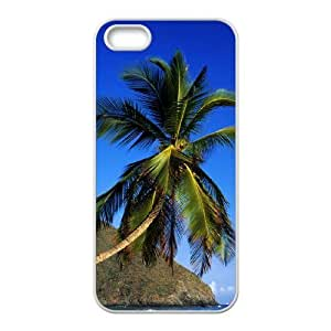 Coconut tree Customized Cover Case with Hard Shell Protection for Iphone 5,5S Case lxa#488249