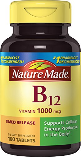 Nature Made Vitamin B12 1000 mcg. Timed Release Tablets Value Size 160 Ct