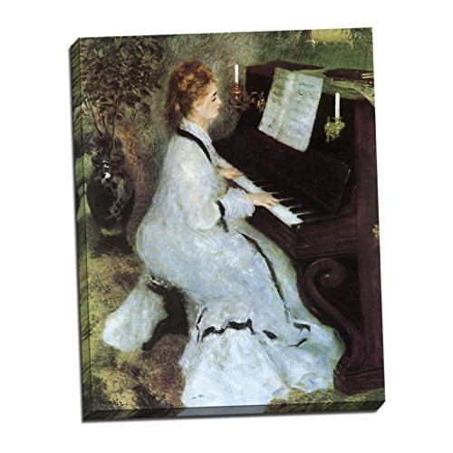 Gallery Wrapped Canvas 22x28' - Pierre Auguste Renoir Lady at the Piano Gallery Wrapped Canvas Giclee Print - Finished Size (W) 22'' x (H) 28'' [Gallery-Wrap] (V13-41T-Stretched-Border)