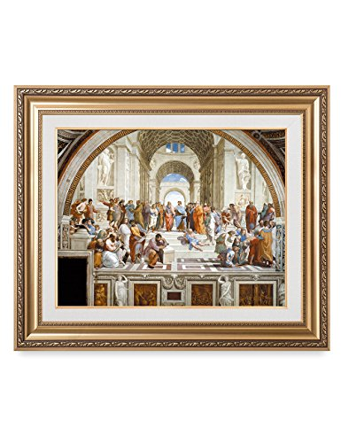 DecorArts - The School of Athens by Raphael. The World Classic Art Reproductions. Giclee Print with Matching Museum Frame. 30x24'', Finished size: 36x30'' by DECORARTS