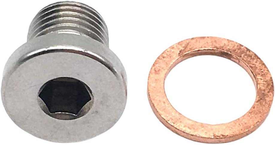 Shiwaki 4 Set M12x1.25 Gewinde Silber 304 Edelstahl O2 Sauerstoffsensor Stecker St/öpsel