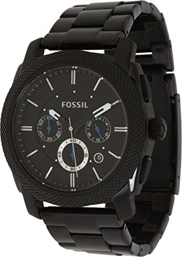 Fossil Men's Machine Quartz Stainless Steel Chronograph Watch, Color: Black (Model: FS4552)