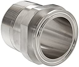 Dixon 21MP-R200 Stainless Steel 316L Sanitary Fitting, Clamp Adapter, 2\