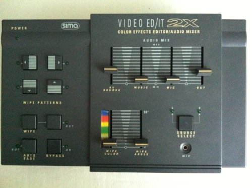 Sima Mini Video Ed/it 2x with color wipe effects and sound mixer Sima Video Mixer