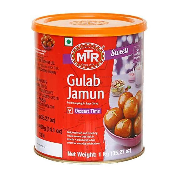 MTR Gulab Jamun, 1kg Tin