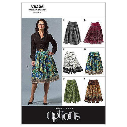 UPC 031664409090, Vogue Patterns V8295 Misses' Petite Skirt, Size AA (6-8-10-12)