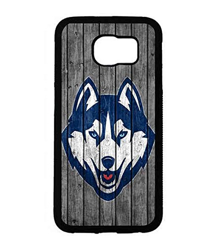 NCAA Team Logo Sports Theme Samsung Galaxy S6 Case UConn Fashionable Pattern Cover For Girls (Uconn Pattern)