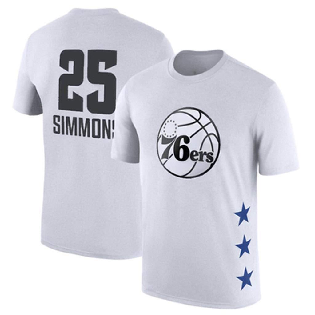 LHKJB Camiseta de Baloncesto Blanca de Manga Corta Wade Simmons ...