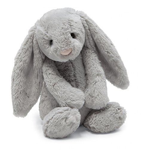 Large Bunny - Jellycat Bashful Grey Bunny Stuffed Animal, Large, 15 inches