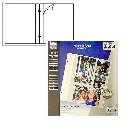 (Holson/Burnes® EasyStik® Magnetic post-bound album refill pages Our price is for 2 units - 8x10)
