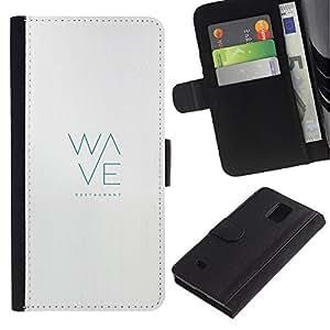 All Phone Most Case / Oferta Especial Cáscara Funda de cuero Monedero Cubierta de proteccion Caso / Wallet Case for Samsung Galaxy Note 4 IV // Nosotros juntos