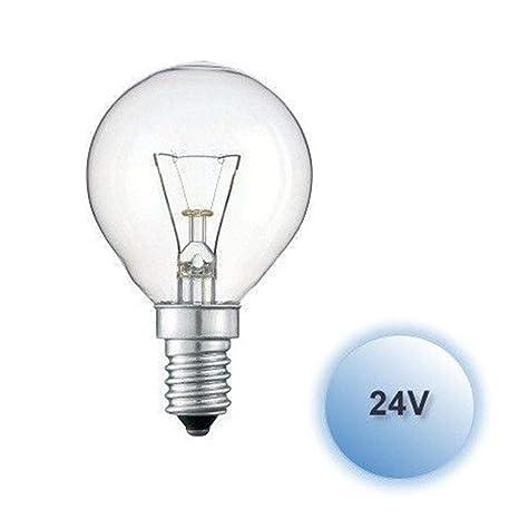 Bombilla esferica 25w 24v E14 caja 10 unidades