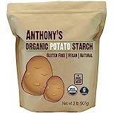 Anthony's Organic Potato Starch - Unmodified (2 Pounds), Gluten-Free & Non-GMO, Resistant Starch