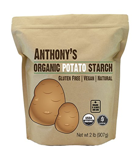 Anthony's Organic Potato Starch, Unmodified, 2lbs, Gluten Free & Non GMO, Resistant Starch