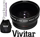 Vivitar HD4 Optics Wide Angle W/Macro Lens For Sony Alpha A6000 ILCE-6000 NEX-3N (40.5mm Compatible)