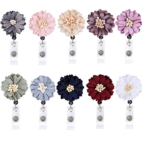 Xinzistar 10 Pieces Daisy Retractable Badge Holder ID Badge Reel with Alligator Clip Material: Made of superfiber which Makes it Look Like a Real Flower (Daisy Badge Clip)