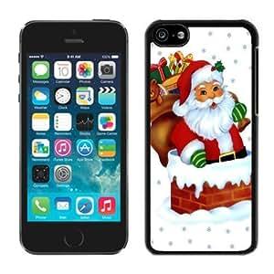 MMZ DIY PHONE CASECustom iphone 5c TPU Case Santa Claus Black iphone 5c Case 36