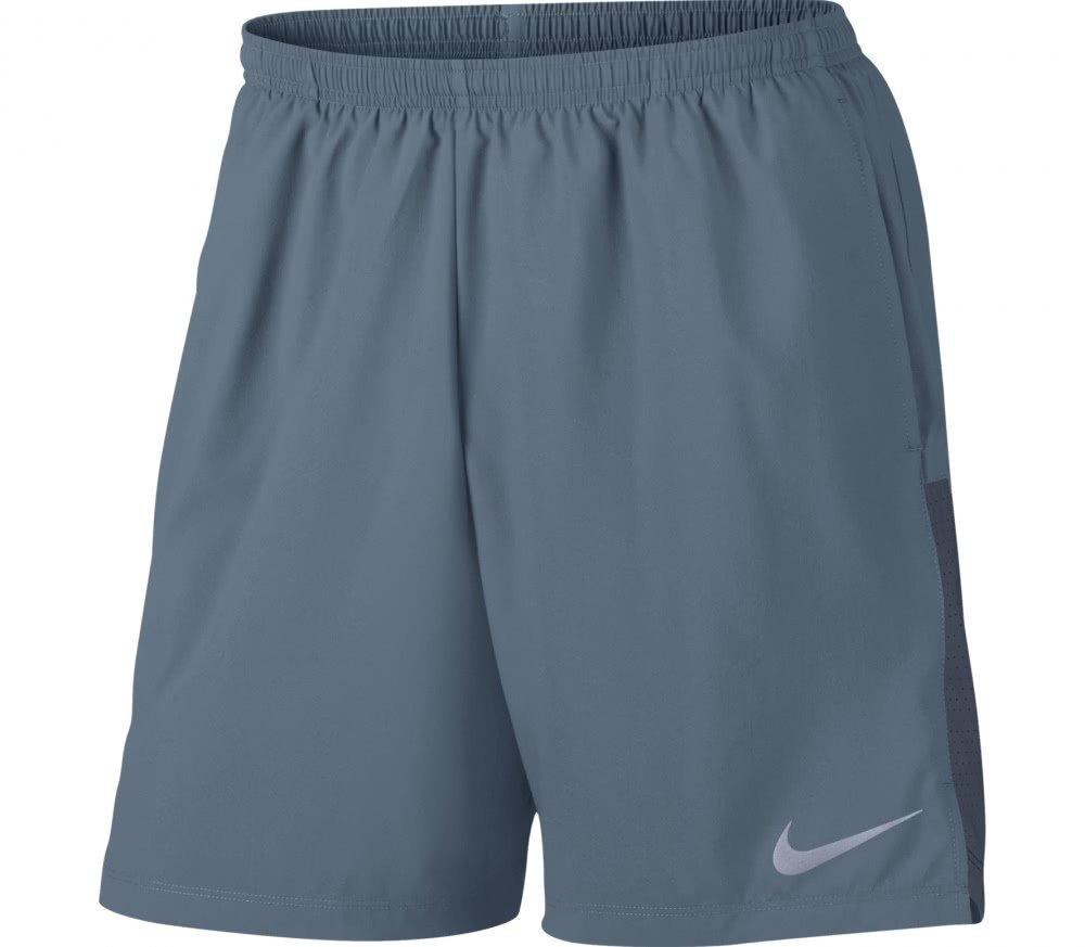 NIKE Challenger Men's 5'' Lined Running Shorts (X-Large, Gunsmoke/Reflective Silver)