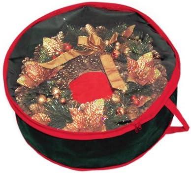 Qinlorgon Organizer per Ornamenti Natalizi Supporti per Ornamenti Antipolvere in Tessuto Oxford per Vacanze al Chiuso allaperto Custodia per ghirlande con Materiali di Alta qualit