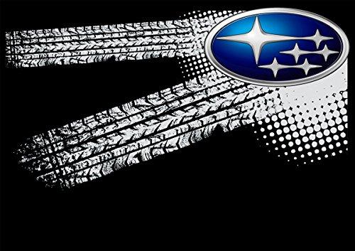 Subaru Auto Logo car Schwarze T-Shirt vor Fun -617