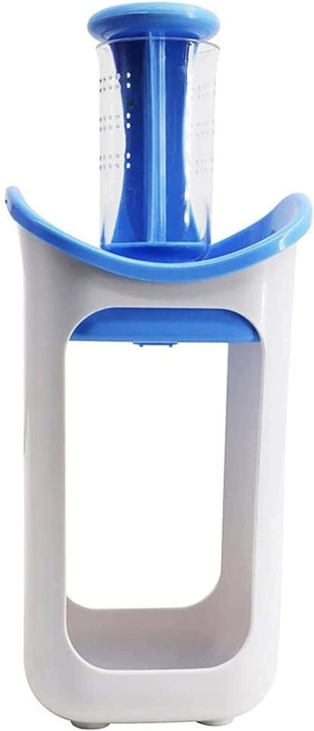 Fresh Squeeze Station Baby Food Maker With 10Pcs Reusable Baby Food Pouches - Homemade Fresh Juice Organic Baby Food And Toddler Snacks (Color : Blue)