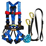 Fusion Climb Pro Backyard Zip Line Kit Harness Lanyard Trolley Bundle FK-A-HLT-04