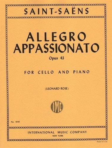 Saint-Saens Camille Allegro Appassionato Op43. For Cello and Piano. by Leonard Rose. International (Allegro Piano)
