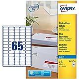 Avery Mini étiquettes Jet d'encre Blanc (Import Royaume Uni)