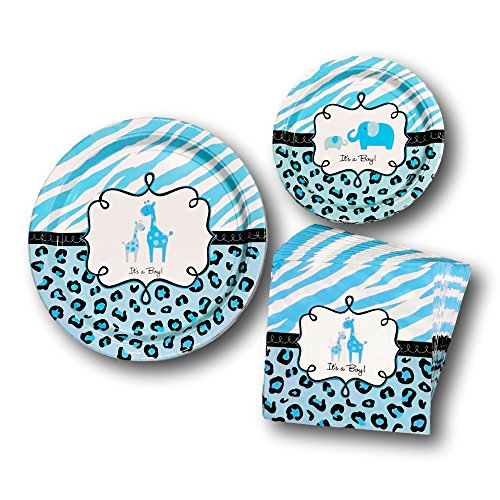 safari baby shower plates - 7