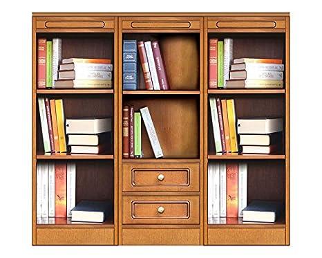 Arteferretto Librería Baja de Madera, Mueble Estilo clásico ...