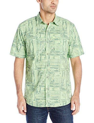 G.H. Bass & Co. Men's Explorer Short Sleeve Fishing Shirt Plaid Button Pocket
