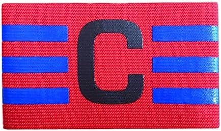 Binglinghua® - Brazalete de capitán de fútbol con Velcro y diseño antigotas para Adultos y jóvenes, Paquete de, Rojo: Amazon.es: Deportes y aire libre