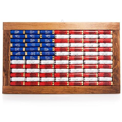 12 Gauge Shot Gun Shell Casing American Flag Wall Art - Gun Shell