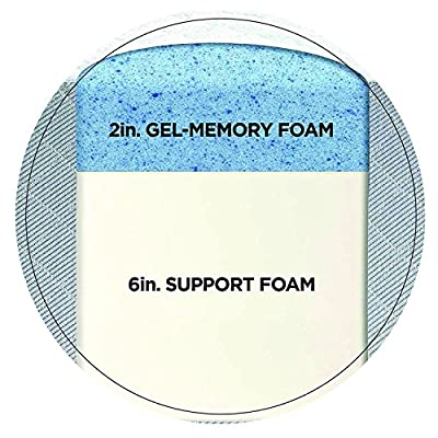 "Sleep Innovations 8"" Gel-Infused Memory Foam Mattress"