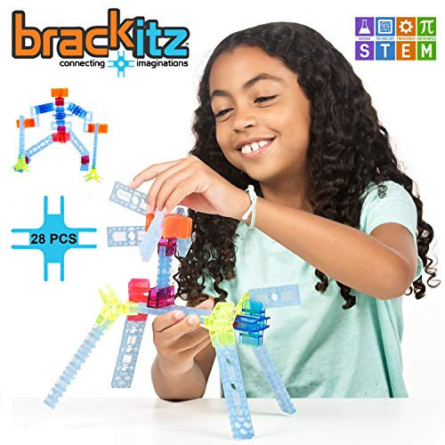 Brackitz Inventor:  Educational Construction Set | STEM Learning Toy | Building Blocks for Kids | Ages 3 and Up | 28 Pc Set