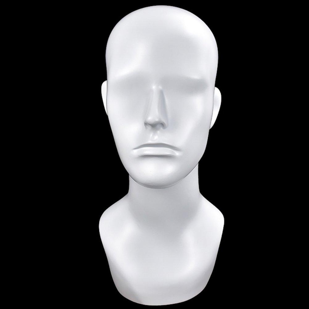 Beiguoxia vetroresina Model testa di manichino maschile parrucca cappello sciarpa display del supporto