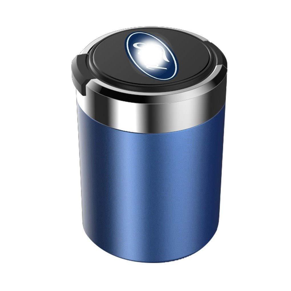 Jackson Wang Car ashtray Car Ashtray Compatible Ford Ashtray Blue LED Light with Cover Car Interior Storage Box,Blue