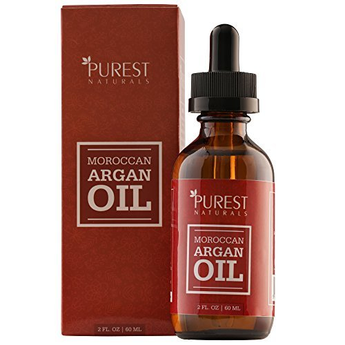 Purest Naturals Moroccan Argan Oil - 100% Pure - Dry Skin Beauty Care for Hair, Face & Nails - The Anti Aging, Anti Wrinkle Beauty Secret - Grade Triple A Extra Virgin Cold Pressed