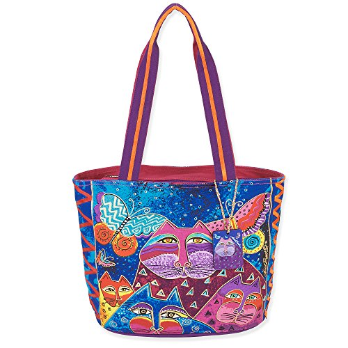 - Laurel Burch Cats with Butterflies Medium Tote (Multi)