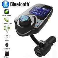 Yiwa Wireless in-Car Bluetooth FM Transmitter MP3 Radio Adapter Car Kit USB Charger
