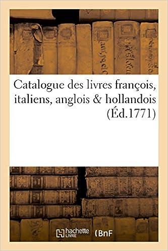 Amazon Fr Catalogue Des Livres Francois Italiens Anglois