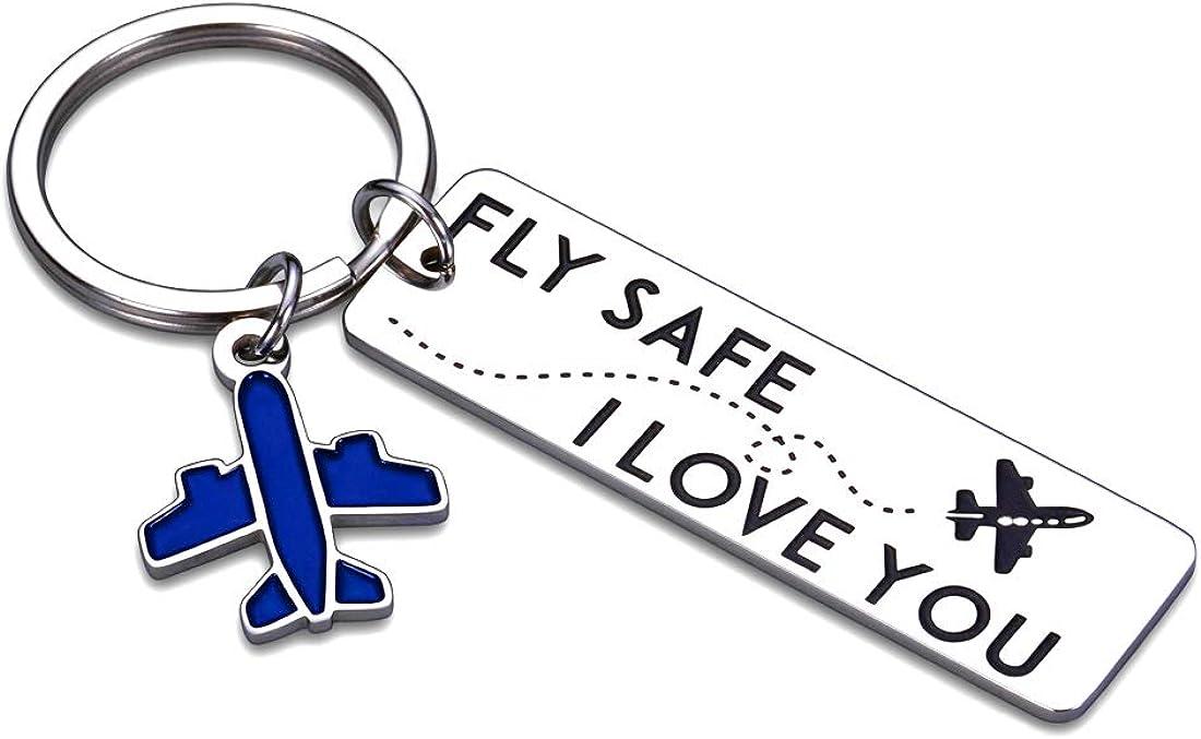Travel Lover Resin Glitter Letter Keychains Flight Attendant Keychains