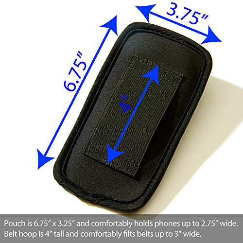 SYB Phone Pouch, Cell Phone EMF Protection Holster Sleeve Phones up to 2.75'' Wide Belt Hoop by SYB (Image #1)