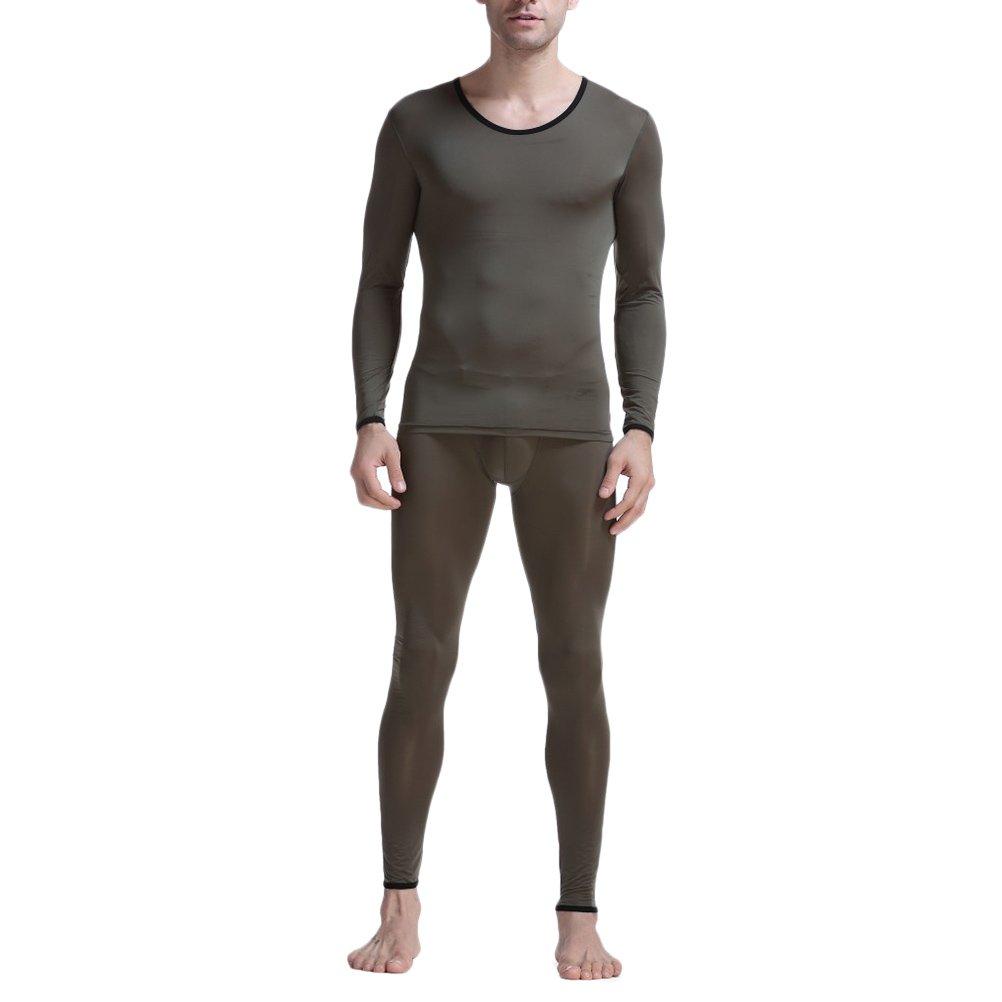 Zhuhaitf Mens Thin Polyamide Baselayer Long Sleeve Top /& Long Johns Pants Set