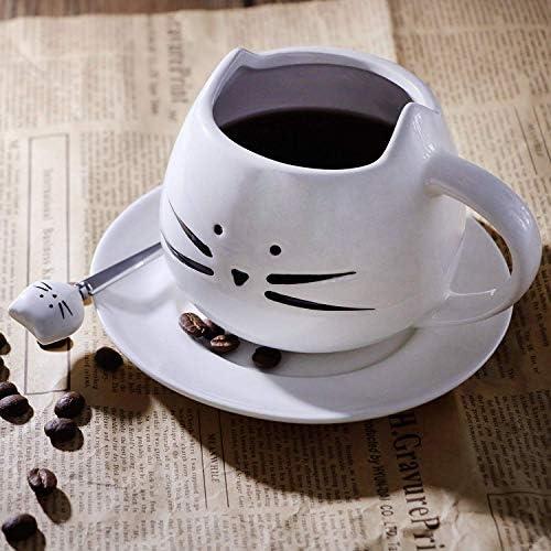 Tasse Et Coaster Set Crazy Cat Lady Chats Porcelaine Maison Bureau Travail Café Tasse Thé