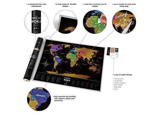 Black Scratch Off Travel World Map Premium Edition X - Us states i ve been to map