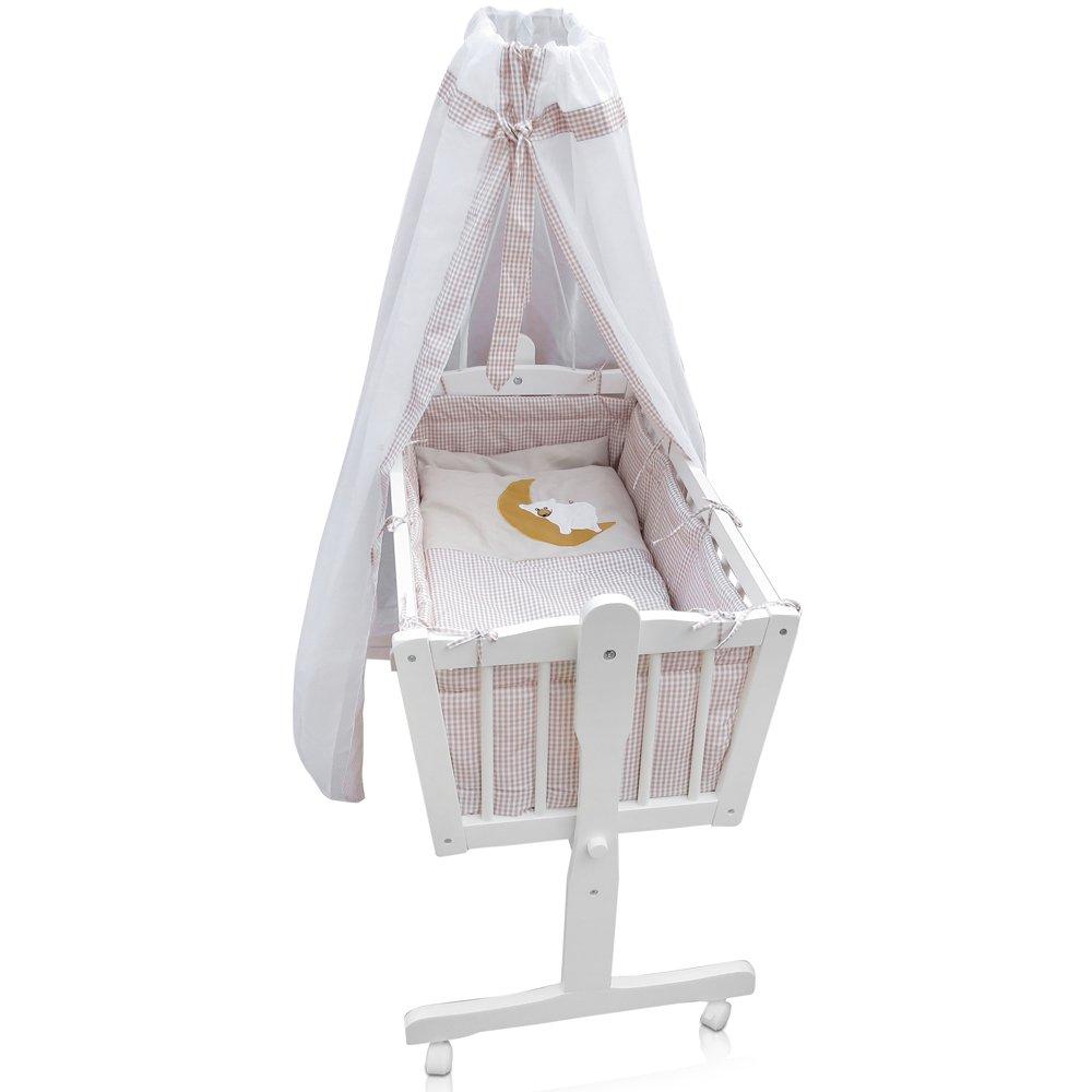 Stubenwagen für zwillinge  Babywiege Kinderbett Babybett Stubenwagen Beistellbett + 9 tlg ...