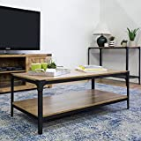 New Angle Iron Rustic Coffee Table in Barnwood Finish Review
