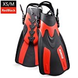 ZIONOR F1 Diving Fins Open Heel Lightweight Strong Propulsion Comfortable Foot Pocket Adjustable Detachable Strap for Snorkeling and Diving